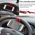 Автомобильные Аксессуары Универсальный Рулевого Колеса Автомобиля Мобильного Телефона Держатель Кронштейн для iPhone 6 plus 4 5 5S Galaxy S4 S5 GPS HTC MP4