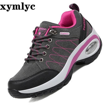 Running shoes for women Sneakers Suede Sport Shoes woman Air damping Outdoor Trainers wedge zapatos mujer chaussure femme