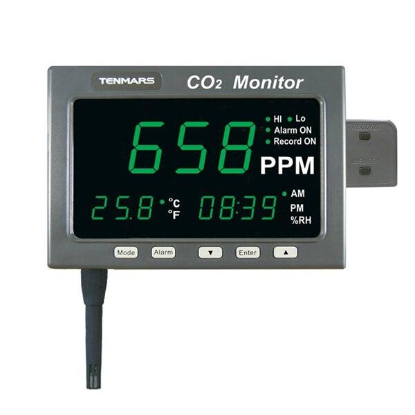 TENMARS TM-186D Large LED Screen CO2 Temp Monitor