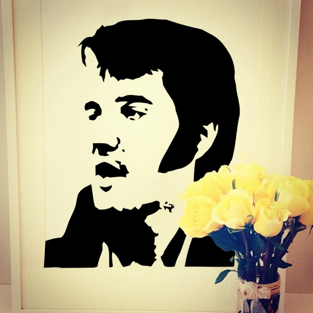 New Wholesale Elvis Presley Art Wall Mural Wall Sticker Stencil Wall ...