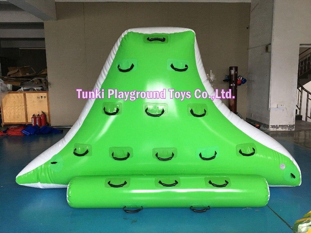 พีวีซี inflatalbe เกมสวนน้ำภูเขาน้ำแข็งพอง
