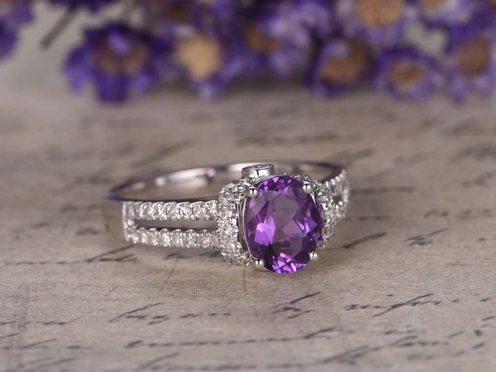 MYRAY Natural Purple Amethyst Gemstone Crystal Stone ...