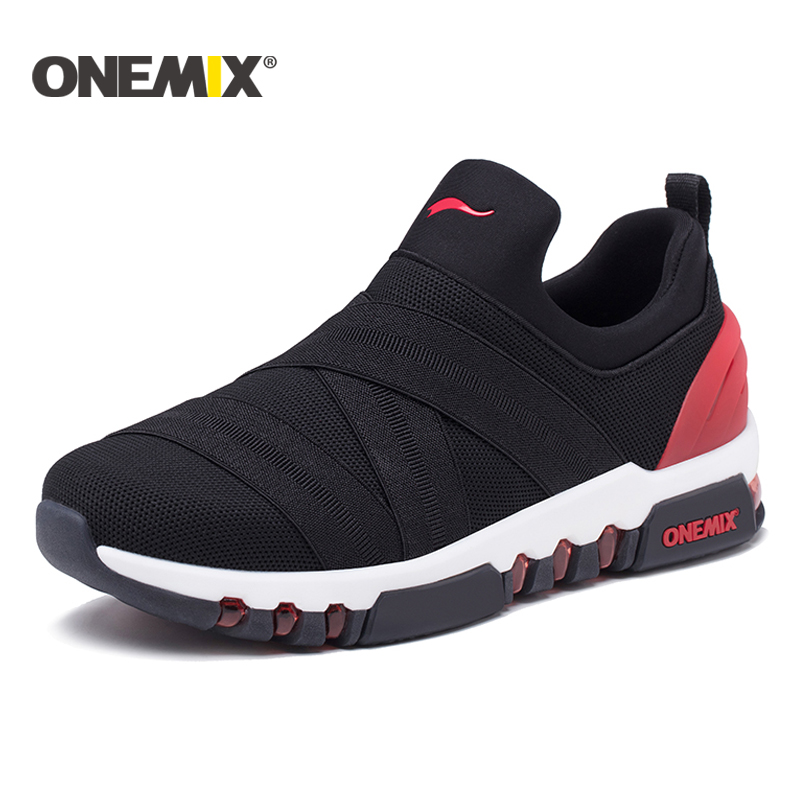 Onemix 2018 New Men Running Shoes Hight Sneakers Breathable Sneakers For Women Outdoor Trekking Walking Running Shoes For Men