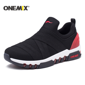 Image 1 - Onemix 2018 new men running shoes hight sneakers breathable sneakers for women outdoor trekking walking running shoes for men