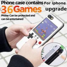 Capa recarregável para celular iphone, display colorido full color, para modelos iphone x, xs, max, xr, 6, 7, 8, plus, jogos retrô capa de proteção para menino presente