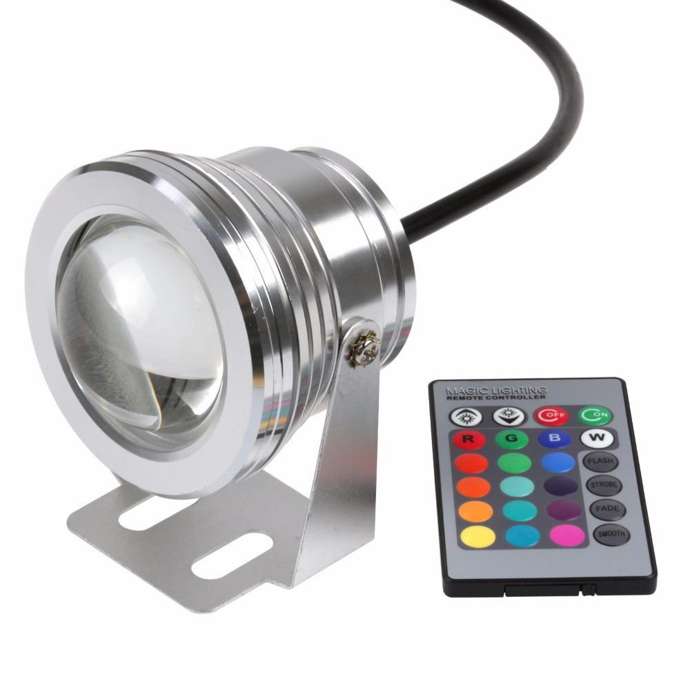 DC12V Открытый Подводные Освещение 10 Вт RGB подводный светодиодный прожектор Цвет Изменение лампа IP68 Водонепроницаемый для пруд ...