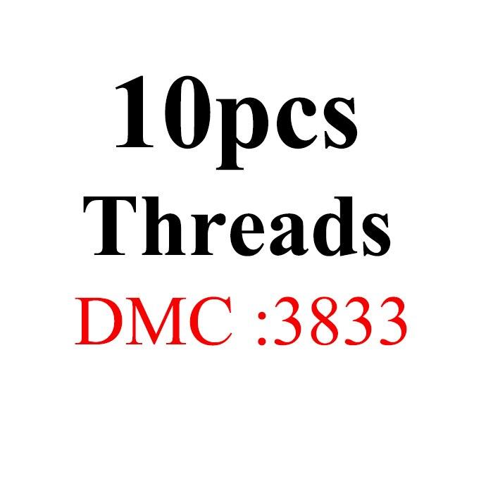 Snowlover, рукоделие, 10 шт./лот, 1,2 м, разные цвета, DMC3824-3848, вышивка крестиком, хлопковое шитье, моток пряжи, нить для вышивки - Цвет: 1.2mthread-DMC3833