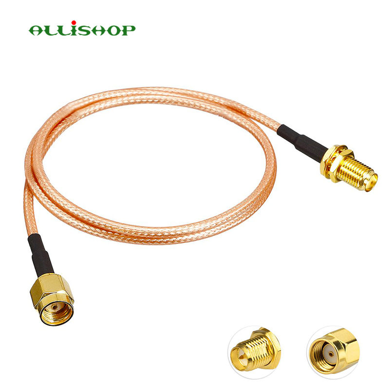 ALLiSHOP 0-6Ghz wifi pigtail RP-SMA male to RP-SMA female connector RF Coaxial jack plug low loss RG316 for FPV Antenna router ALLiSHOP 0-6Ghz wifi pigtail RP-SMA male to RP-SMA female connector RF Coaxial jack plug low loss RG316 for FPV Antenna router
