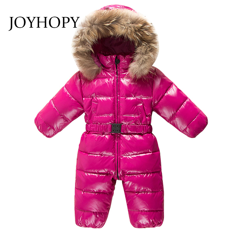 Baby Clothes Natrual fur hooded toddler down romper boys girls waterproof snowsuit warm jumpsuit overalls winter Baby Rompers puseky 2017 infant romper baby boys girls jumpsuit newborn bebe clothing hooded toddler baby clothes cute panda romper costumes