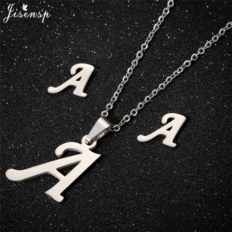 Jisensp Personalized A-Z Letter Alphabet Pendant Necklace Gold Chain Initial Necklaces Charms for Women Jewelry Dropshipping 3