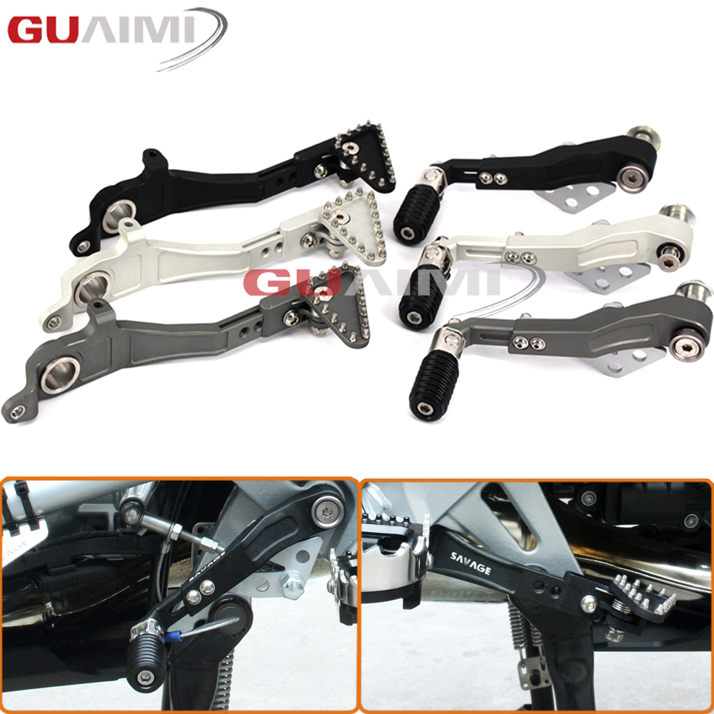 Motorcycle CNC Aluminum Adjustable Folding Footbrake Rear Shift Lever Shift Lever Pedal Le motorcycle parts cnc folding tip gear shift lever