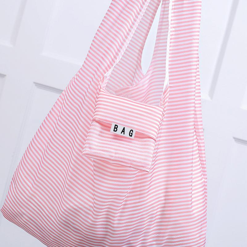 New Folding Reusable Shopping Bag Vest Style  Portable ECO Multi-function Pouch Travel Durable Home Storage Handbag Accessories
