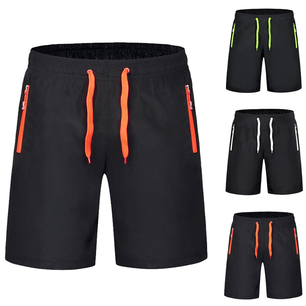 Pant Short Surfing Trunka30325 Swimming Beach Summer And Solid Spring Zipper-Pocket Elastic