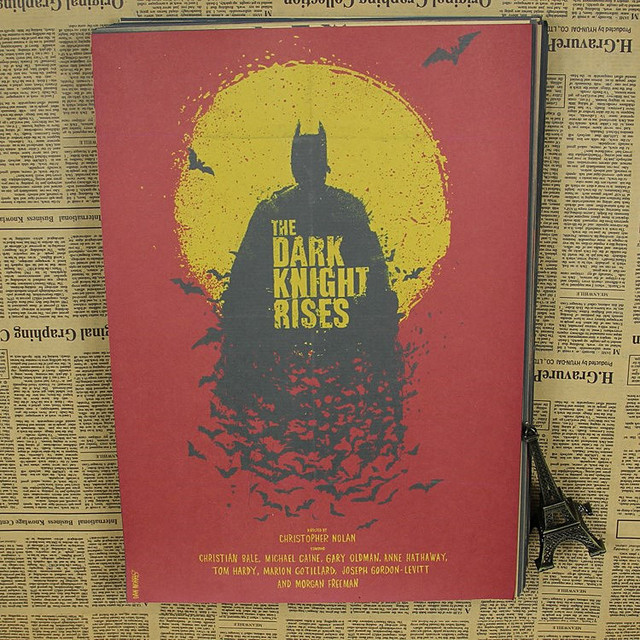 Superman Batman DC Comics Justice League kraft paper painting movie poster