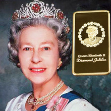 The Queen Elizabeth II Gold Plated Souvenir Coin Bar