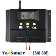 60A 80A за максимальной точкой мощности, Солнечный Контроллер заряда 12V 24V Max 2000W Панели солнечные ЖК-дисплей Экран Дисплей PWM зарядки для Решетки PV Контроллер солнечной энергии
