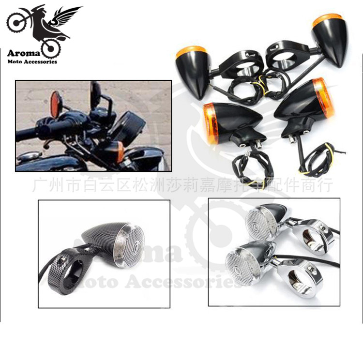 1 set 4 PCS 3 colors Plastic motorbike flashers for harley moto indicator front back blinker motorcycle turn signal light parts