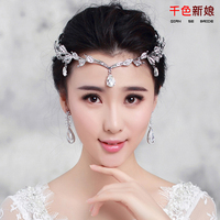 Bride Frontlet Crystal Eyebrows Fall 2015 New Korean Short Headdress Wedding Hair Accessories Wholesale