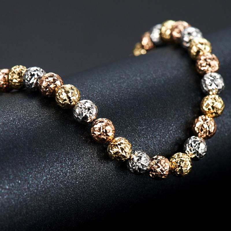 18k Gold Yellow White Rose 3colors Bracelet New Fashion And Fine Jewelry For Wedding Engagement Ceremony2017 Hot Sale Trendy-in Bracelets & Bangles from Jewelry & Accessories    3