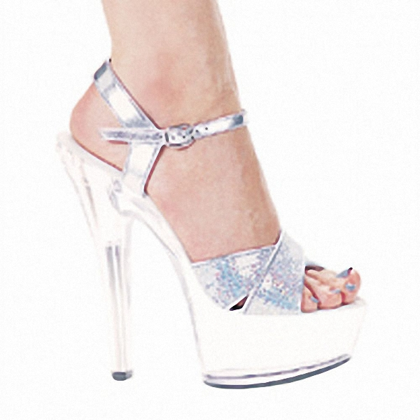 8faa39773b94 Europe and the United States star favorite dress shoes   15 cm super high  heels performance customized glass Sandals-in High Heels from Shoes on ...