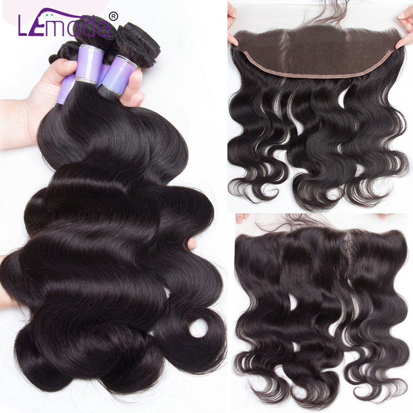 Hair Extensions & Wigs Alipearl Hair 4 Bundles With Closure Brazilian Water Wave Bundles With Lace Closure Baby Hair 5 Pcs Lots Remy Hair Extensions Be Friendly In Use 3/4 Bundles With Closure