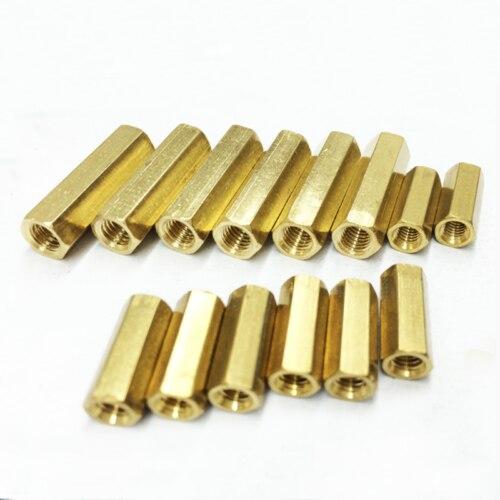 50pcs M2 Female Hex Screw Brass PCB Standoffs Hexagonal Spacers