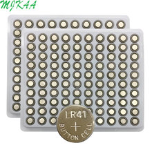 200PCS/Lot LR41 AG3 SR41W 392 192 GP192A LR736 Button Watch Battery Cell Cion Batteries for flashlights,toys,watches
