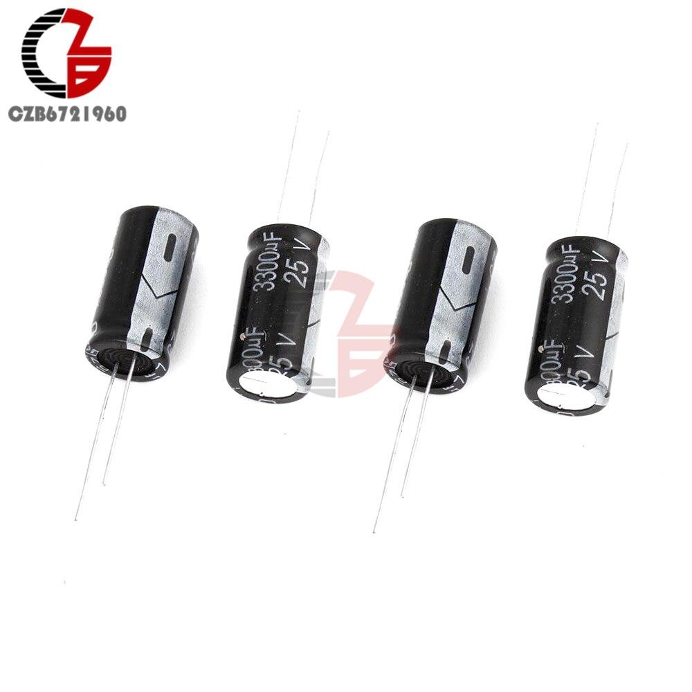10PCS 3300uF 25V 105C 16mm*25mm Radial Electrolytic Capacitors