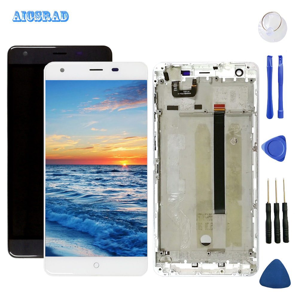 AICSRAD Original Used Ulefone Power 1 LCD Display Digitizer + Touch Screen Assemblely Frame + Tools For Power1 5.5'' In Stock