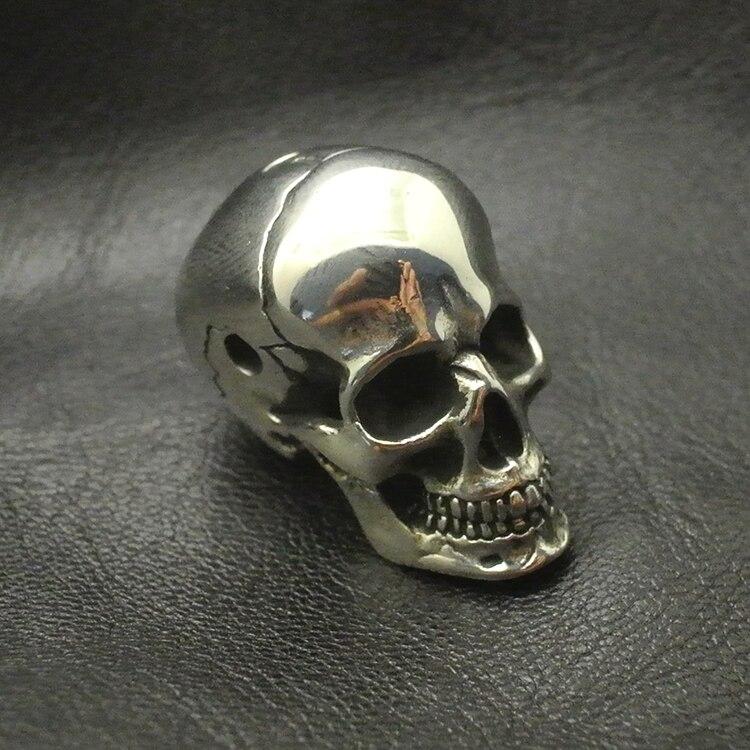 White Fine Polishing Brass Skull Head Three Links DIY Pendant Umbrella Pendants Personalized Accessories EDC Knife Beads