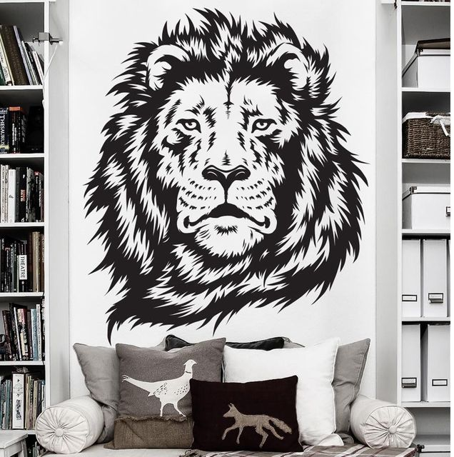 Wall Stickers For Kids Room Zoo African Animal Jungle Lion King Wall Decal  Art Decor Sticker