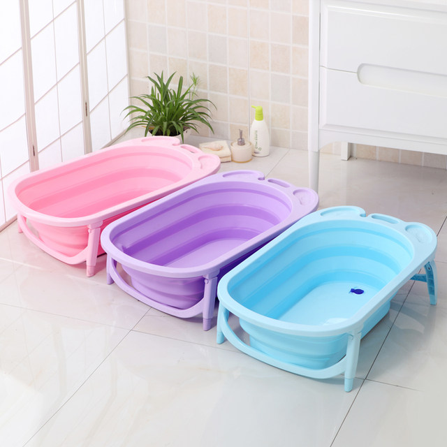 Online Shop Thickened Folding Baby Bath Tub Children\'s Bath Tub Baby ...
