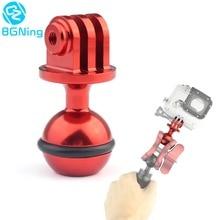 CNC 1 นิ้วหัวขาตั้งกล้องอะแดปเตอร์ไฟขาตั้งสกรู 3/8 สำหรับ GoPro HERO 7 6 5 4 Yi SJCAM กล้องกีฬา