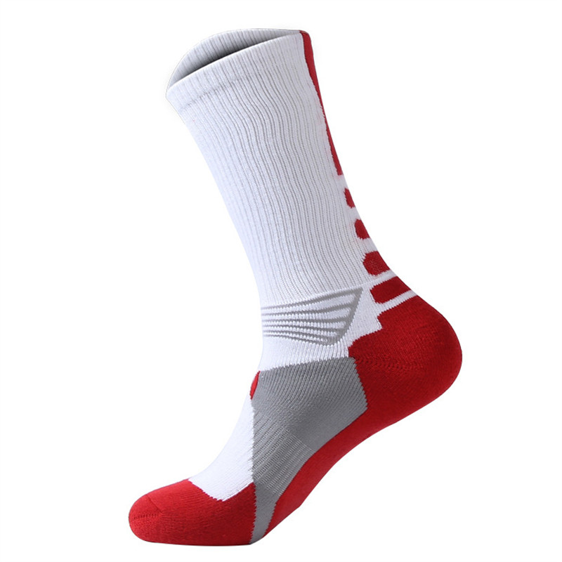 Professional mens sports basketball Socks thickening towel bottom tube elite outdoor mens sports socks  Support Drop shipping