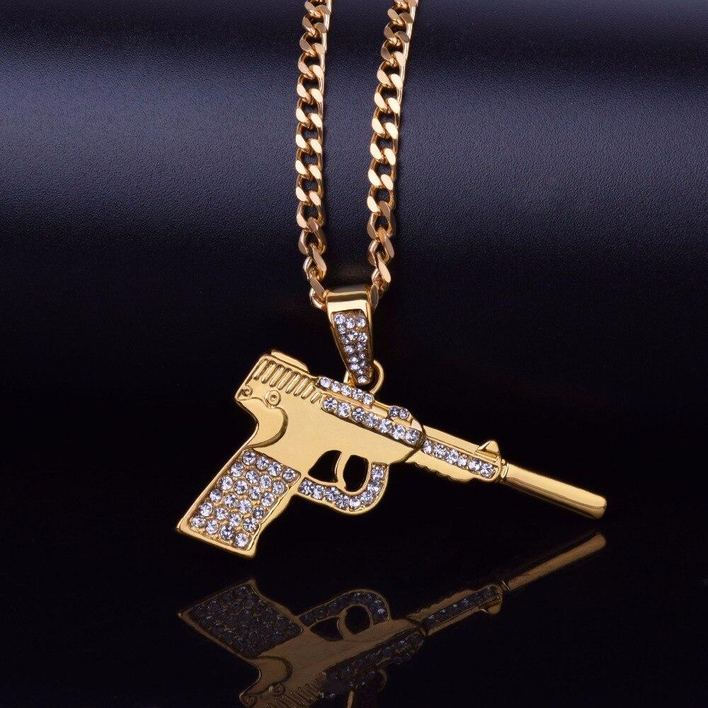 Detail Feedback Questions about Hip Hop Pistol Gun Necklace ... c2e3d48b1482