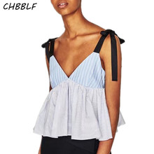 New European Color Top Summer Striped Cami Top Sleeveless Shirt Women Cdc8267
