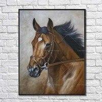 Negozio d'arte Reale Pitture Ad Olio Animale Cavallo Da Corsa di Alta Qualità reale Pop Cavallo Olio Su Tela A Mano Animale della Tela di Canapa arte
