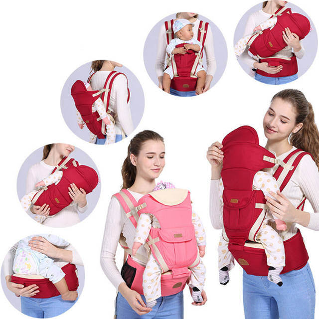 Universal Ergonomic Baby Carrier Wrap With Hip Seat Adjustable Baby Sling Backpack Safe and Comfortable for Newborn &Moms&Dads