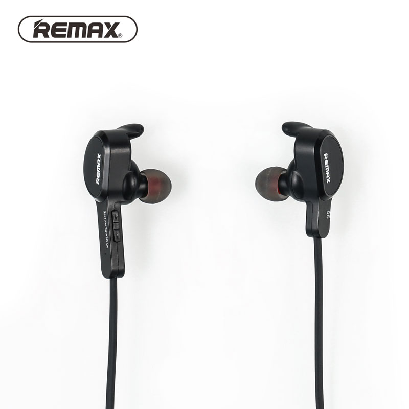 Remax RB-S5 S5 Wireless Sports music Bluetooth Headset Handsfree For Laptop IPhone iPad android phones With Retail Package remax rb t2 fashion aluminum bluetooth earphone wireless hd clear sound headset for iphone 5 6 samsung galaxy s4 android phone