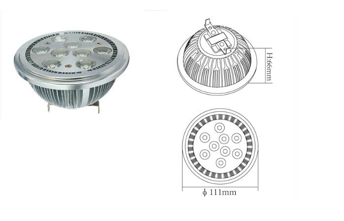 AR111 9w G53 led լոբի լեղի լուսավորություն - LED լուսավորություն - Լուսանկար 5