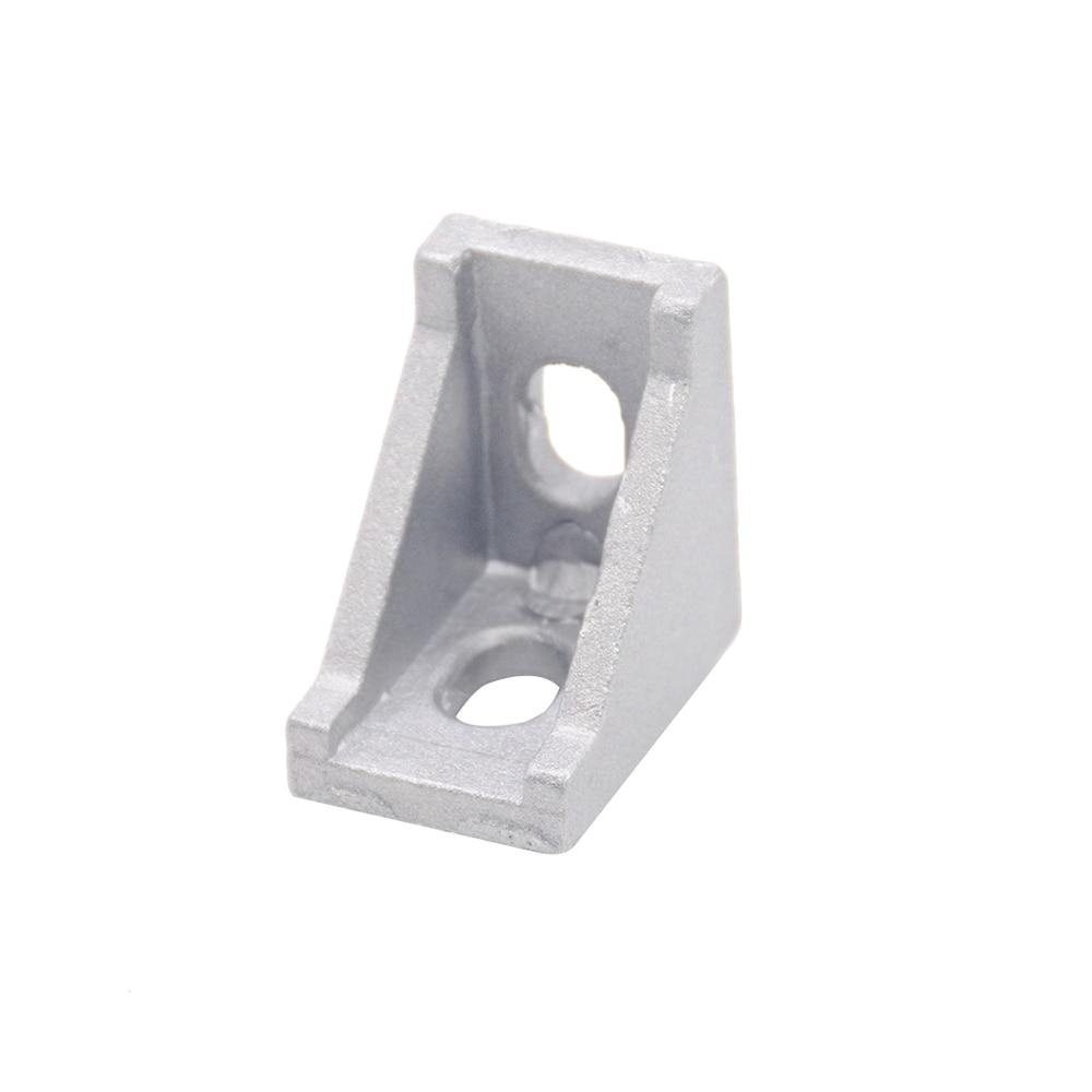 lowest price HOTSale 20pcs 2028 corner fitting angle aluminum 20 x 28 L connector bracket fastener match use 2020 industrial aluminum profile