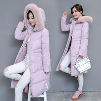 Autumn 2018 Women Winter Jackets And Coats Placket Zipper Warm Cold Resistance Hooded Windproof Parka Padded