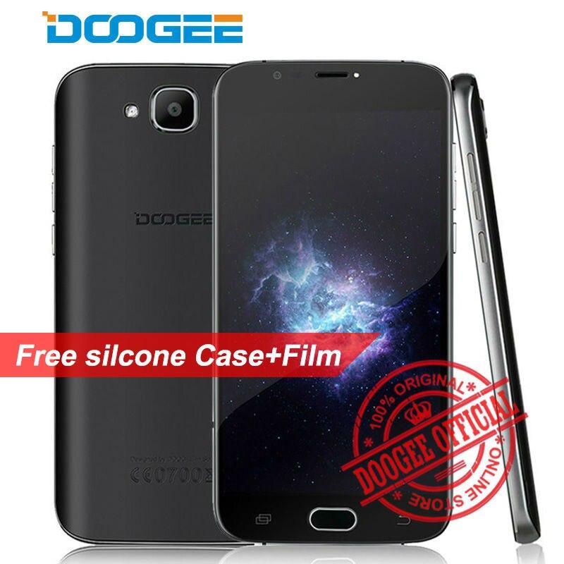 Цена за Оригинал doogee x9 мини mtk6580 quad core 1.3 ГГц android 6.0 смартфон 5.0 ''Экран HD RAM 1 ГБ ROM 8 ГБ Dual SIM 3 Г WCDMA телефон