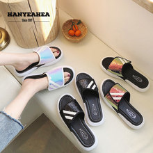 Sequin Cloth Womens Summer Shoes Fashion Casual Flat Slippers Classic Fashionable