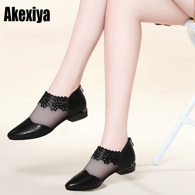 new Pointed Elegant Women Black Lace Ankle Flower High Heel Stiletto Pumps Ladies Party Dancing Pump Shoes f165
