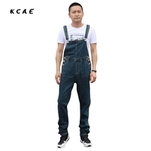 Summer Fashion Casual Mens Cargo Denim Overalls , Spring Fall Male Jeans Jumpsuits , Men Suspenders Trousers Playsuits For Man