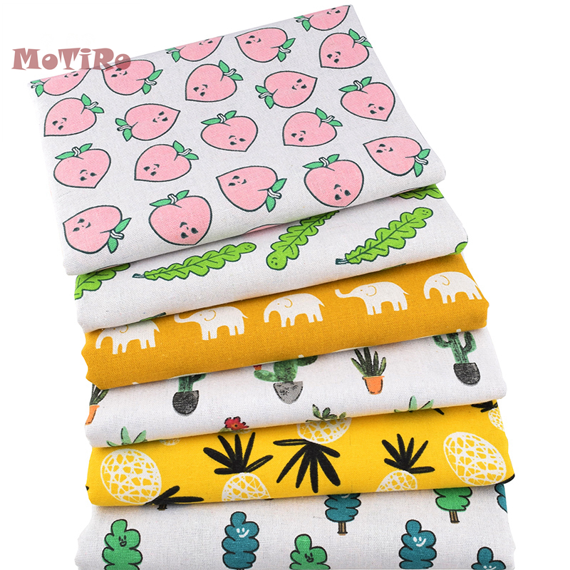 Home & Garden Imported From Abroad Motiro,half Meter,printed Cotton Linen Fabric,funny Lives Series Handmade For Diy/sewing/sofa/bag/cushion Material/furniture Finely Processed Apparel Sewing & Fabric