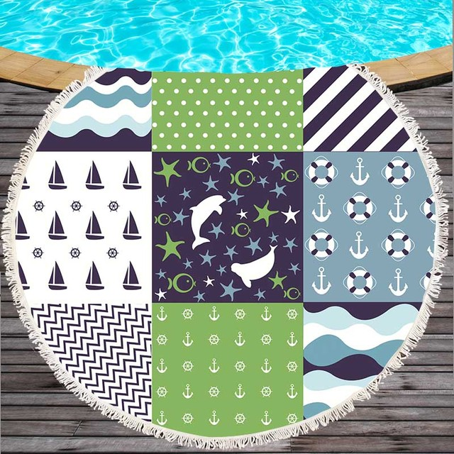 Patchwork Style Microfiber Beach Towel 2
