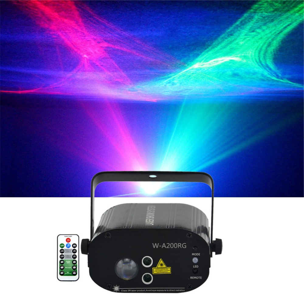 Sharelife Mini Red Green Hypnotic Aurora DJ Laser Light Mixed RGB LED Remote Control Home Gig Party Show Stage Lighting W-200RGSharelife Mini Red Green Hypnotic Aurora DJ Laser Light Mixed RGB LED Remote Control Home Gig Party Show Stage Lighting W-200RG