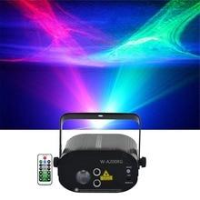 Sharelife мини красный зеленый гипнотический Aurora DJ Лазерный свет смешанный RGB светодиодный пульт дистанционного управления домашний Гиг для сцена на вечеринках и шоу освещение W-200RG